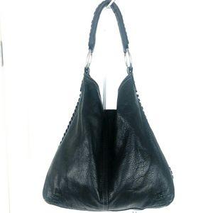 Lucky Brand  Black Leather Hobo Handbag